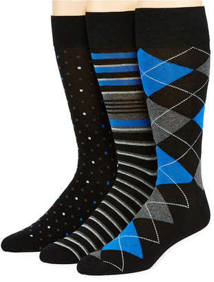 STAFFORD Stafford 3-pk. Mens Cotton Rich Crew Socks - Extended Size