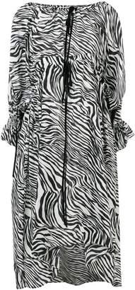 McQ flared zebra print dress