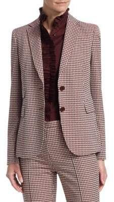Akris Punto Two-Button Houndstooth Blazer