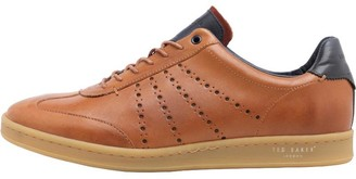 Ted Baker Mens Orlee Leather Trainers Tan