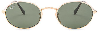 Ray-Ban Oval Flat in Metallic Gold. $150 thestylecure.com