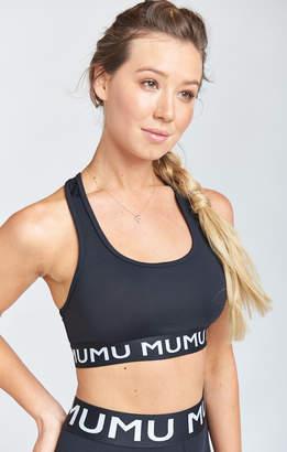Show Me Your Mumu Maya Logo Bra ~ Black Firm Stretch