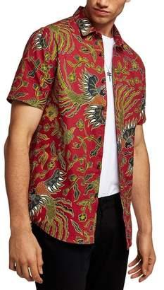 Topman Batik Bird Print Shirt