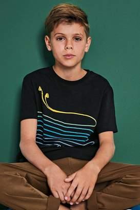 Next Boys Black Earphones T-Shirt (3-16yrs) - Black