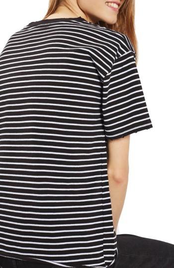 Women's Topshop Stripe Boxy Tee 5