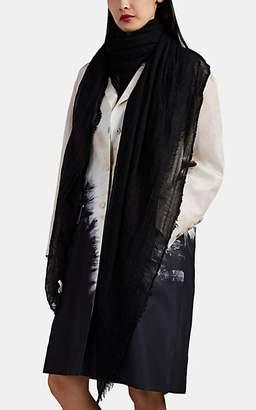 Botto Giuseppe Women's Cashmere-Silk Gauze Scarf - Black