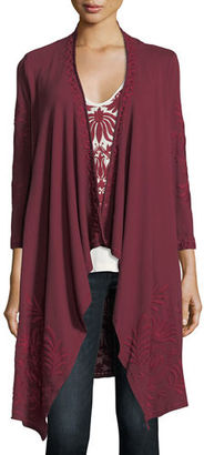 Johnny Was Saskla Embroidered French Terry Cardigan, Plus Size $290 thestylecure.com