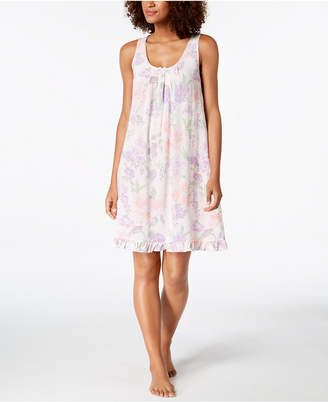 Miss Elaine Printed Woven Short Nightgown