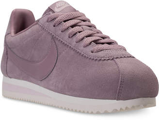 Nike Women's Classic Cortez Suede Casual Sneakers from Finish Line