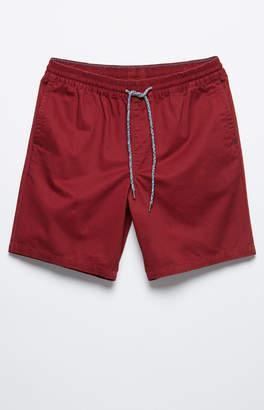 Pacsun Twill Burgundy Drawstring Shorts