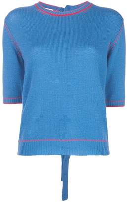 Marni contrast knit top