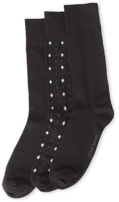Cole Haan 3-Pack Diamond Socks
