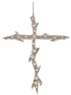 Cathy Waterman Platinum Diamond Cross Pendant