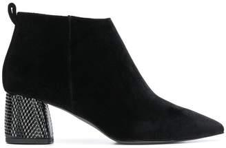Pollini embellished chunky heel boots