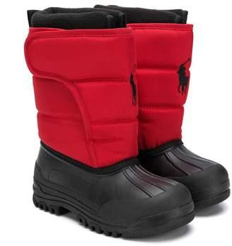 Ralph Lauren padded shaft boots