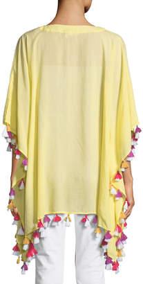 Bindya Lace-Up Tunic with Tassels