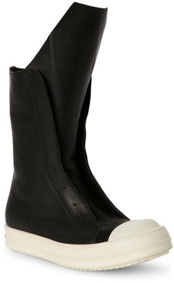 rick owens Black Sneakers Boots $650 thestylecure.com
