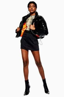Topshop Womens Petite Clip Belted Denim Skirt