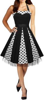 BlackButterfly 'Ivy' 50's Polka Dot Swing Dress (, US 4)
