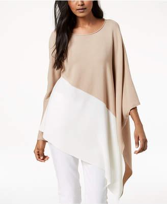Eileen Fisher Tencel Colorblocked Asymmetrical Sweater