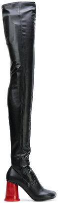 thigh high stretch boots