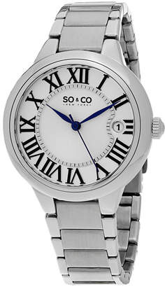 Co SO & NY Womens Madison Stainless Steel Polished Bracelet Dress Quartz Watch J154P68