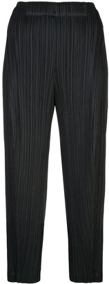 Pleats Please Issey Miyake high waisted pleated trousers