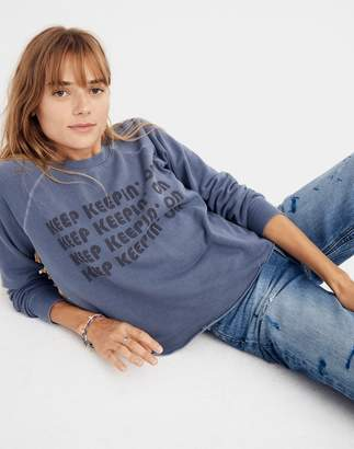 Madewell Rivet & Thread Keep Keepin' On Swing Sweatshirt