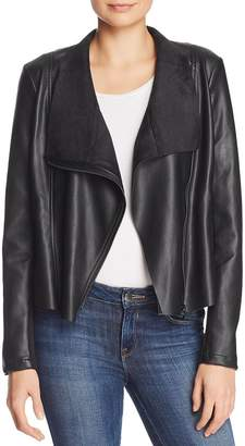 French Connection Armide Faux-Leather Moto-Inspired Jacket