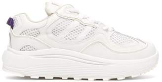 Eytys Jet Turbo Exaggerated Sole Leather Trainers - Womens - White