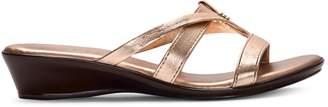 Italian Shoemakers Wedge Heel Slide Sandals