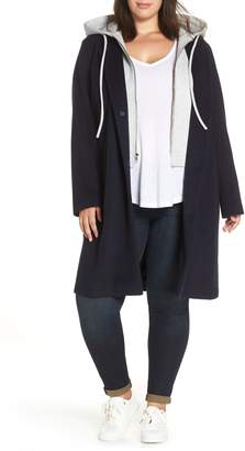 Rachel Roy Hoodie Insert Long Wool Coat