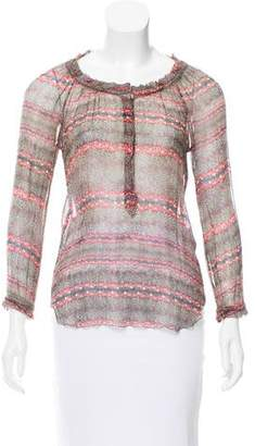 Etoile Isabel Marant Printed Silk Top