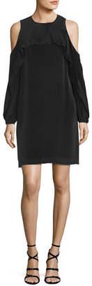 Raina Kobi Halperin Cold-Shoulder Silk Popover Dress