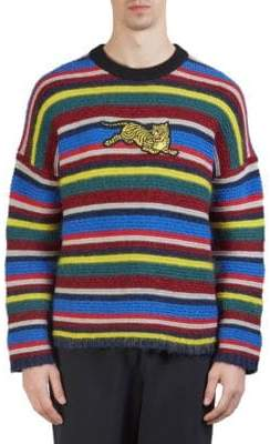 Kenzo Striped Jumping Tiger Sweater