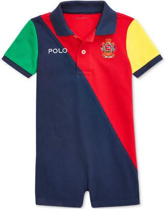 Polo Ralph Lauren Baby Boys Colorblocked Cotton Polo Shortall