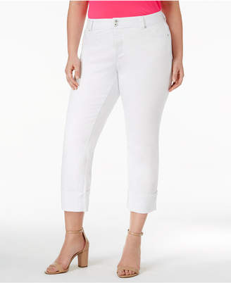 INC International Concepts I.n.c. Plus Size Cuffed Skinny Jeans, Created for Macy's