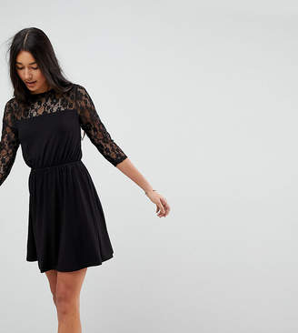 Asos Tall TALL Mini Smock Dress With Lace Sleeves