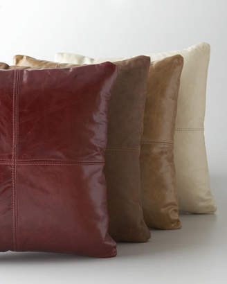 Massoud Red Leather Pillow