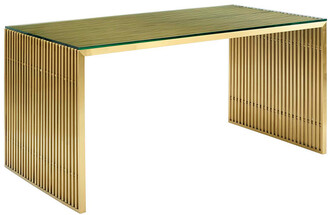 Modway Gridiron Stainless Steel Dining Table