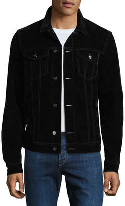 Emporio Armani Men's Flocked Stretch-Denim Jacket