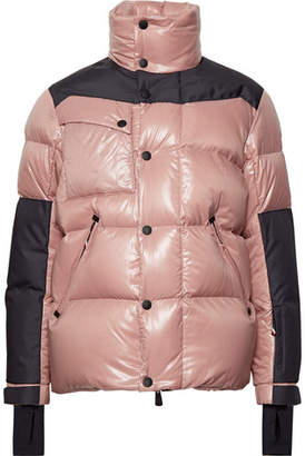 Moncler Panelled Quilted Hooded Down Ski Jacket