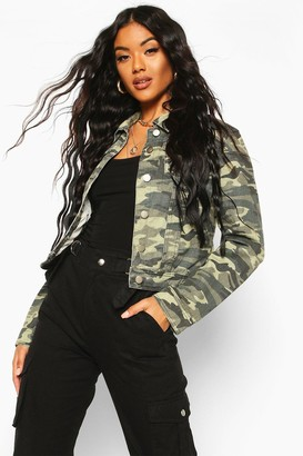 boohoo Camouflage Denim Jacket