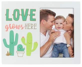 """Pearhead Cactus Picture Frame 3.5"""" x 5"""" - """"Love Grows Here"""""""