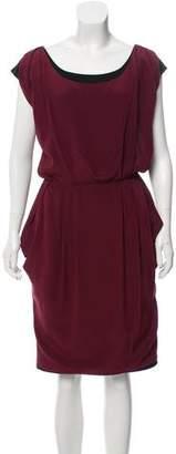 Fendi Pleated Sleeveless Dress