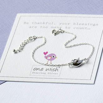 Grace & Valour Tweeting Bird Dainty Bracelet In Sterling Silver