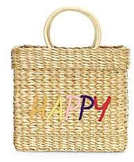 Poolside Women's Happy Small Structured Beach Tote