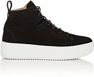 Giuseppe Zanotti Men's Oversized-Sole Suede Sneakers