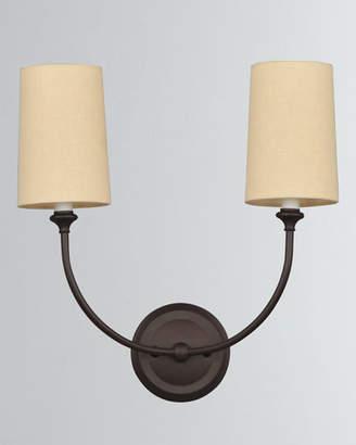 Crystorama Sylvan 2-Light Dark Bronze Sconce