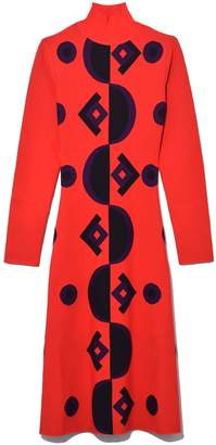 Marni Long Sleeve Dress in Lacquer